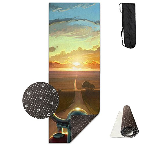BrownriceS CHRISTMAS SALE 3D Printing Premium PVC Clever Yoga Non Slip Yoga Mat High Density Motorcycles Padding Stretching Toning Workouts For Men And Women