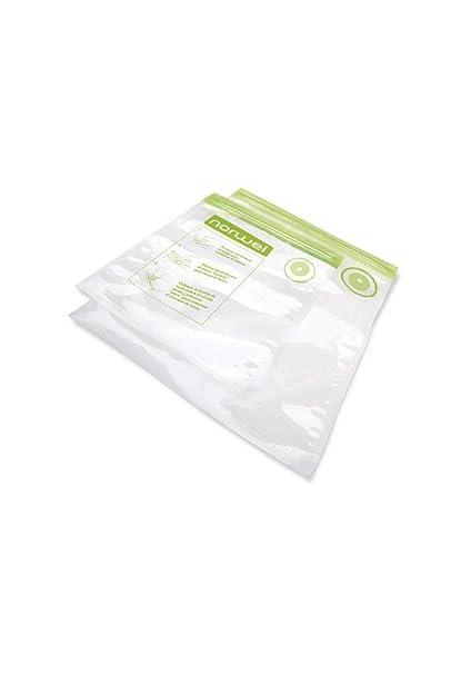 Norwei - Pack 15 Bolsas al vacio Lavable y Reutilizable 20x22cm