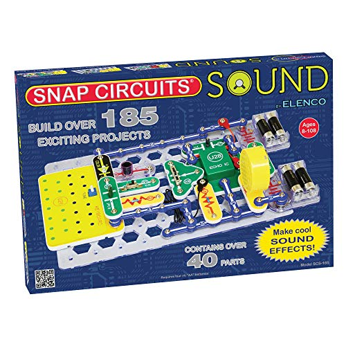 Snap Circuits Sound Electronics Exploration Kit | 185 Fun STEM Projects | 4-Color Project Manual | 40+ Snap Modules | Unlimited Fun