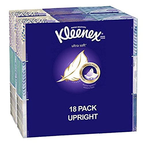 Kleenex Ultra Soft Facial Tissues; 75 Tissues per Cube Box; 18 Count