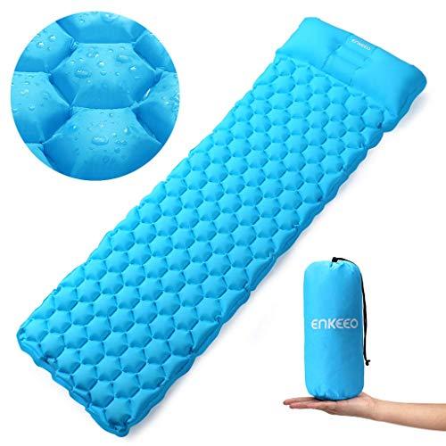 ENKEEO Ultralight Sleeping Pad Inflatable Camping Mat Air