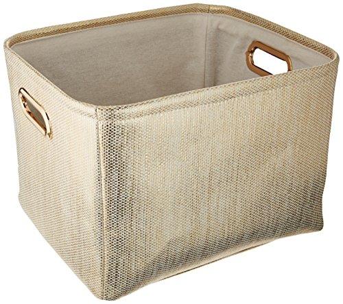 (Lambs & Ivy Metallic Storage Container, Gold)
