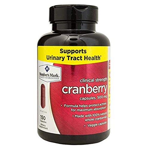 Member's Mark Clinical Strength 500mg Cranberry Dietary Supplement 3 Pack (150 Count) Made in The U.S.