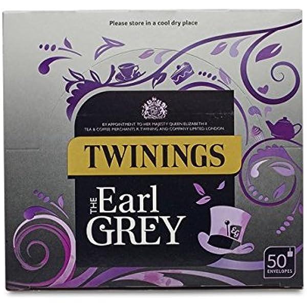 Twinings Earl Grey 50 bolsitas de té envueltas individualmente por caja: Amazon.es: Alimentación y bebidas