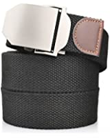 "Men's Canvas Web Belt Military Style With US Belt Buckle & 50""Long"