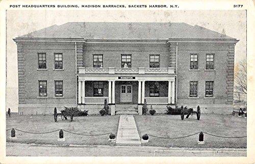 Sackets Harbor New York Madison Barracks Post HQ Bldg Antique Postcard K95832