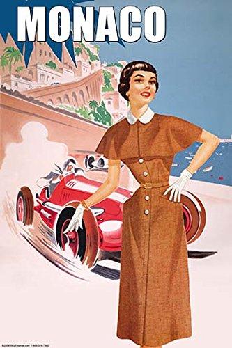 Monaco Ladys 50s Fashion II 28x42 Giclee On Canvas ()