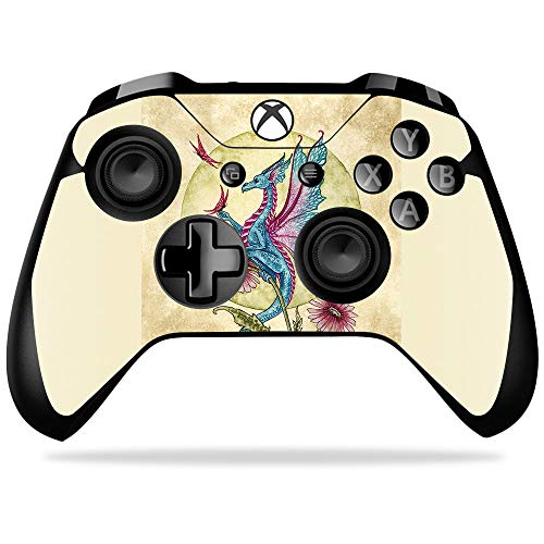 - MightySkins Skin Compatible with Microsoft Xbox One X Controller - Dragon Daydream   Protective, Durable, and Unique Vinyl wrap Cover   Easy to Apply, Remove, and Change Styles   Made in The USA