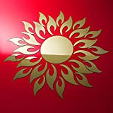 C&C Products Acrylic 3D Sunflower Mirror Effect Wall Sticker Decal