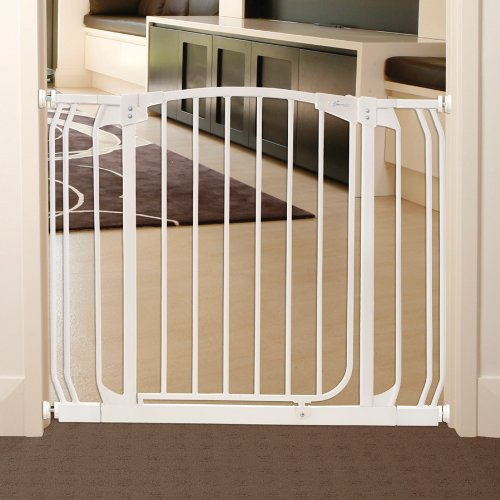 Amazon.com: Dreambaby Chelsea Auto Close Security Gate In White With  Extensions: Baby