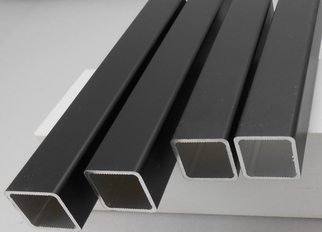 Alpina SQTUBE-BLK Square Aluminum Tube 1'' OD BLACK POWDER 132 inches long, 9 lengths per pack. Ships cut in half unless buyer arranges with the shipper to ship uncut.