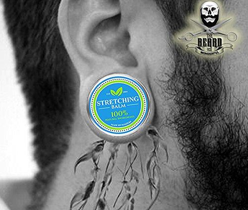 Piercing de bálsamo elástico para orejas de alta calidad. Heal, Protect, Lubricate Plugs, Tapers & Expanders manteca de karité, teatro, eucalipto, jojoba, ...