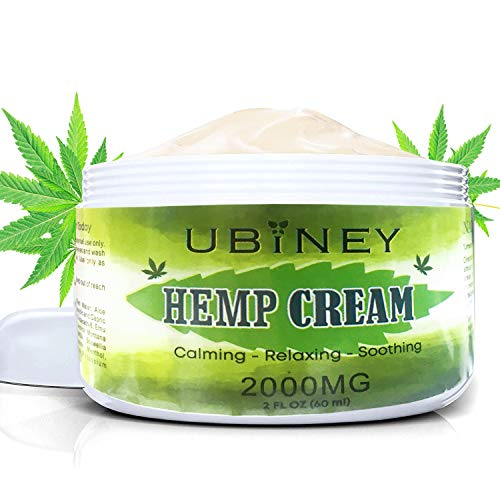 Hemp Cream with Natural Extracts 2000MG Pain Relief Cream for Hip Muscle Back Knee Joint Cervical Pain Cannabis Cream for Inflammation Arthritis