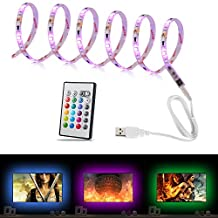 YOUKOYI USB Powered TV Backlight Bias Lighting RGB Multi Color LED Strip Lights for 60 to 70 Inch Flat Screen HDTV LCD Desktop PC Home Movie Theater Decor