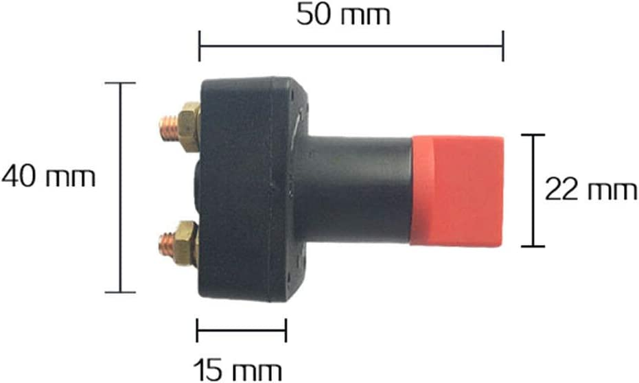 Auto Gaosheng 12V 300A Autobatterie Trennschalter Haupttrennschalter Trennschalter Ein//Aus Batterieschalter f/ür Boots