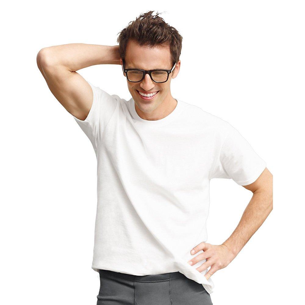 Hanes Crew Neck T-Shirt 3 Pack Big Sizes - 2135x White