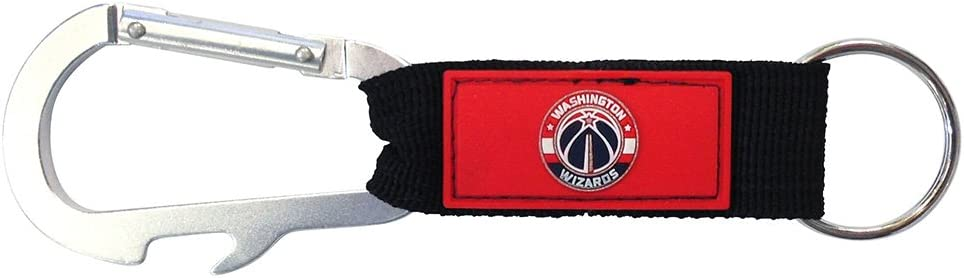 Red One Size NBA Washington Wizards Carabineer Key Tag