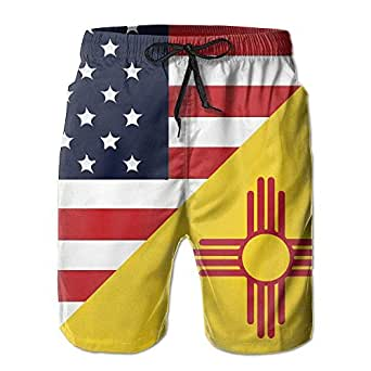 Amazon.com: Bikini bag Mens America New Mexico State Flag