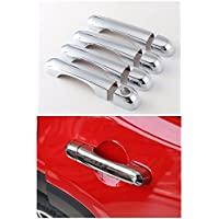 FMtoppeak ABS Chrome Door Handle Cover Trim For Jeep Renegade 2014 UP Silver