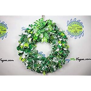 St. Patricks Day Rag Wreath, St. Patty's Day Fabric Wreath, Clover Wreath, Leprechaun Wreath, Shamrock Wreath 11