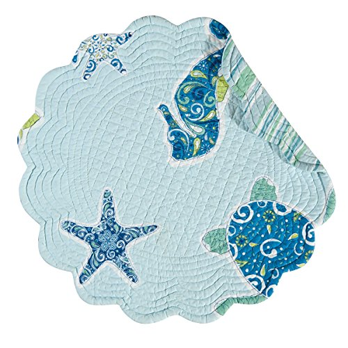 und Quilted Placemat, Imperial Coast (Imperial Blue Table Mat)
