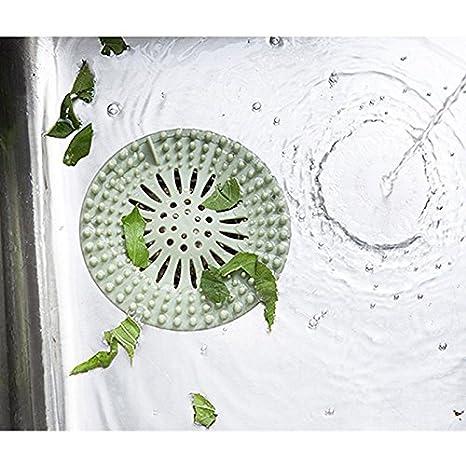 Kentop Abflusssieb Abdeckung Haarfänger Stopper Waschbecken Anti Clogging  Filter Für Badezimmer Dusche Küche (Grau)