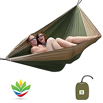 Hammock Bliss Double – Extra Large Portable Hammock – Ideal for Camping, Backpacking, Kayaking Travel – Suspension System Included – 100 250 cm Rope Per Side – Quality You Can Trust