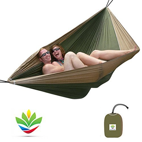 Hammock Bliss Double - Extra Large Portable Hammock - Ideal For Camping, Backpacking, Kayaking & Travel - Suspension System Included...