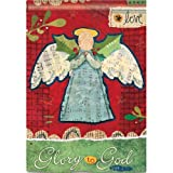 """Glory To God"" Angel, Love Christmas House Flag, 28″ X 40″ For Sale"
