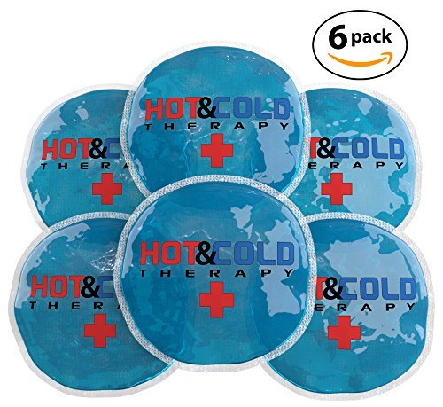 Gel Triple Pack - Ice Packs For Injuries Reusable Gel Hot Cold Flexible Compress Ideal For Breast Feeding , Tooth , Face , Arthritis , Headache , Eye , Cramp and Joint Pain Relief