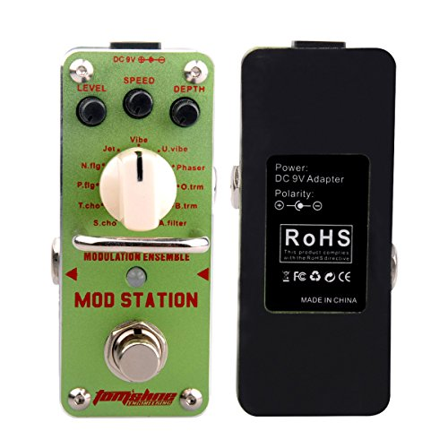 Modulation Ensemble Electric Guitar Effect Pedal with True Bypass Footswitch , Aluminum Alloy green, by LC Prime