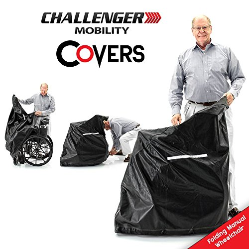 (COVER for Folding Manual Wheelchair Vinyl Heavy Duty Weather Protection Lightweight)