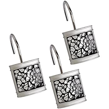 Amazon.com: Creative Scents Shower Curtain Hooks - Set of 12 Shower ...