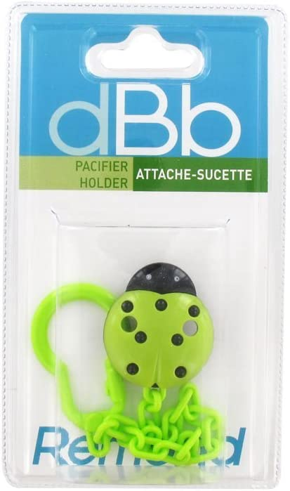 Colour Green dBb Remond Pacifier Holder Ladybug