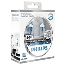 Philips WhiteVision 4300K Halogen Bulbs Xenon Effect (H4 Twin Pack)
