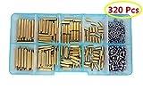 Guard4U 320pcs M2 Hex Male-Female Brass Spacer Standoff&Stainless Steel Screw Nut Assortment Kit