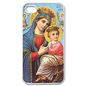 iphone covers Hard Shell several Custom Case- Virgin Mary Christian and Child oranges Baby numerous Jesus Protective PC Case Heart for Iphone 6 plus (White 020336)