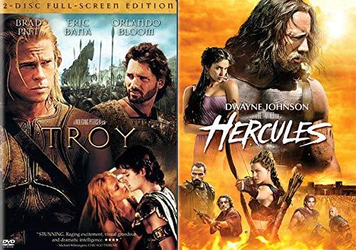 Amazon Com Ancient Battles Featuring Todays The Rock Brad Pitt Star In Hercules Troy 2 Movie Bundle Feature Film Pack Dwayne Johnson Brad Pitt Movies Tv