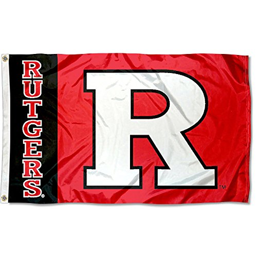 (Rutgers Scarlet Knights University Large College Flag)