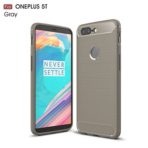 Oneplus 5T Case,DAMONDY Brushed Armor Resilient Shock Absorption Carbon Fiber [Wiredrawing Series][SOFT] Full Protection Phone Case for Oneplus 5T-Grey
