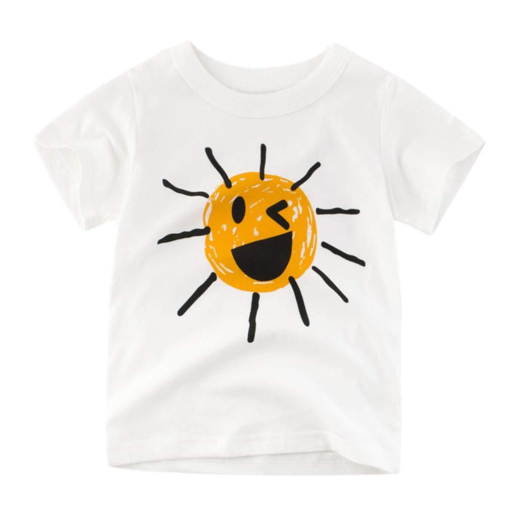 Maglietta per Bambini da 1 a 10 Anni Squarex /® Sole Sorridente Motivo