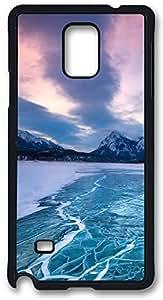 Nature Frozen Sea Level Case Cover for Samsung Galaxy Note 4, Note 4 Case, Galaxy Note 4 PC Black Case Cover