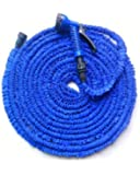 Tubo magico elasticizzato per giardino, pompa estenisibile fino a 3 volte la sua lunghezza iniziale. 22.5 metri, colore blu