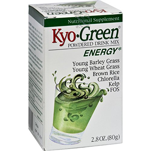Kyolic Kyo-Green Energy Powdered Drink Mix - 2 oz - Promotes healthy intestinal conditions and regularity - Gluten Free Kyo Green Drink
