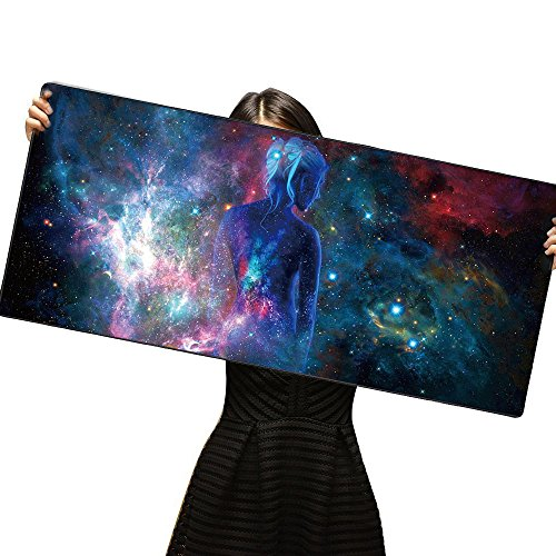 Cmhoo XXL Professional Large Mouse Pad & Computer Game Mouse Mat (35.4x15.7x0.1IN, Sky girl) Photo #2