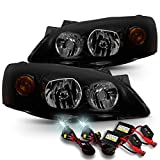 [Black Smoke] 2005 2006 2007 2008 2009 2010 Pontiac G6 Headlights LH + RH Pair + Slim 6000K HID Kit