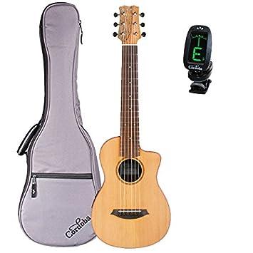 Cordoba Mini sm-ce Spalted arce - Guitarra acústica eléctrica (cuerdas de nailon (con bolsa de concierto y sintonizador: Amazon.es: Instrumentos musicales