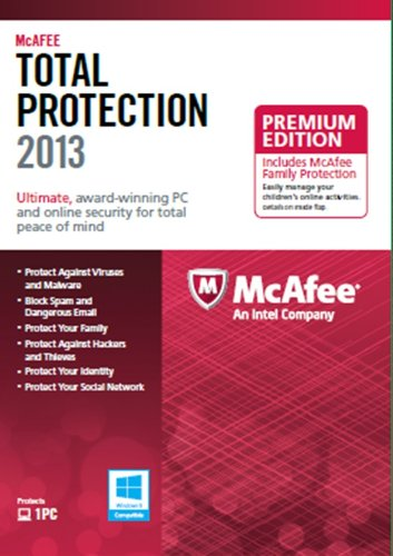 : McAfee Total Protection 1PC Family Protection Bundle 2013