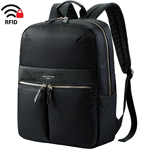 Laptop Backpack, Anti-Theft Backpack Waterproof Laptop Bag, RFID Blocking Design Lightweight Backpack Business Travel Backpack College Daypack School Bookbag for Teenage Men Women 15.6 inch - Black ()