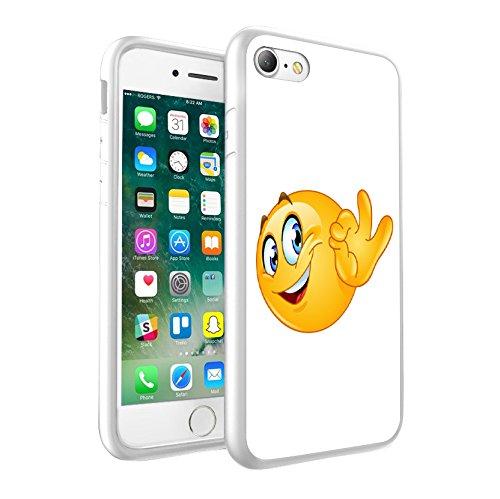 iPhone X étui Peau de couverture, Protection unique personnalisée couverture rigide mince Thin Fit PC Étui de protection résistant aux rayures Couverture pouriPhone X - Emoji 0008